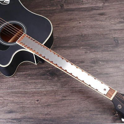 AA89 Guitar Neck Notched Ruler Stainless Steel Tool Straight Edge Accessories
