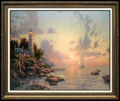 Thomas Kinkade Sea of Tranquility Original Lithograph Color Landscape Signed Art