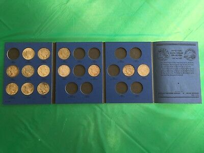 Peace Type Silver Dollar Partial Collection 1922-1934 in Whitman Folder 13 coins