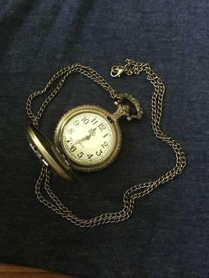 PokerPlaying Cards Quartz Pocket Watch Necklace Pendant Chain [4]FREE BATTERIES