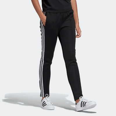 NWT ADIDAS WOMEN'S Originals SST Superstar Track Pants Black White Slim Fit L