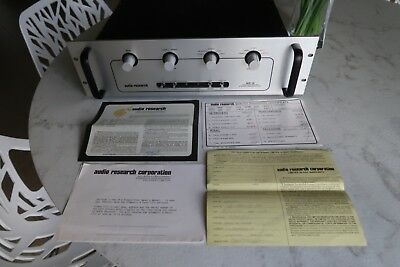 Audio Research SP8 SP-8 Preamp Mint Condition W/ Original Paper work from 1981