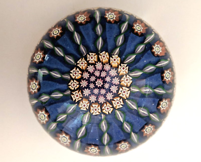 Perthshire Glass Medium Millefiori Paperweight, Central P Cane