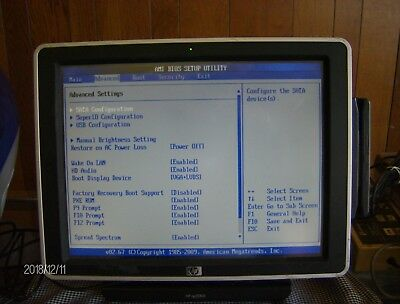 HP ap5000 POS Core 2 Duo 2.80GHz 3GB RAM SM612UP#ABA Needs HDD