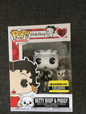 Funko Pop  Betty Boop & Pudgy Black & White   Entertainment Earth Exclusive #421