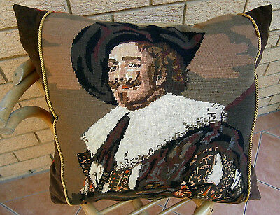 French Wool Needlepoint Art Tapestry Pillow Case Cushion Cover Диванная Подушка