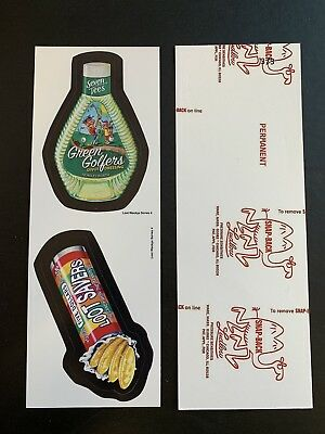 Lost Wacky Packages Series 4 Double RED LUDLOW Green Golfers / Lootsavers  #3/3