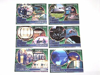 2002 Star Trek Enterprise Season 1 Insert 6 CARD LOT 22nd Century Technology!