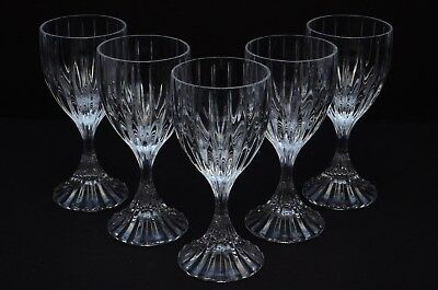 Set of 5 MIKASA PARK LANE Crystal Wine/Water Glass Goblets 6.5""