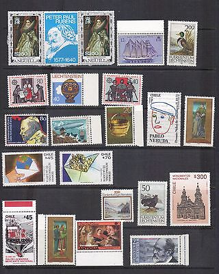 LJL Stamps: 22 World Wide Stamps, MNH, Nice Collection