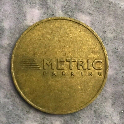 Vintage Metric parking Brass Token no cash Value