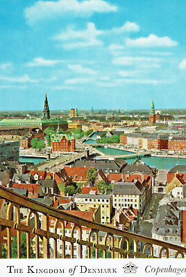 """The Kingdom of Denmark View of Old Town From """"Our Saviours"""" Spire Post Card"""