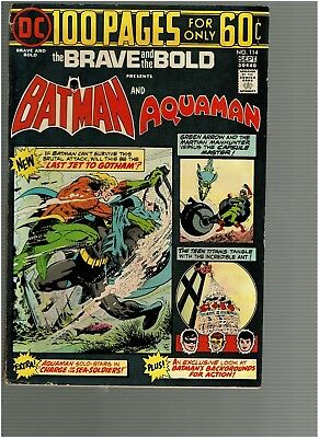 Brave and the Bold 114 Batman  Aquaman  100 pgs  F+