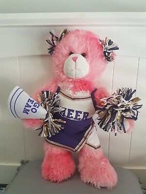 Build A Bear Pink Cheerleader . 42Cm Plush Toy!