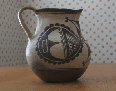 Old Antique Acoma Pottery Pitcher, likely 19th Century, Med size, Very Scarce