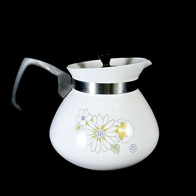 Vintage Corning Ware Floral Bouquet 6 Cup Tea Coffee Pot with Lid