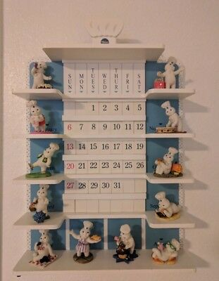 Pillsbury Doughboy PERPETUAL CALENDAR WITH FIGURINES COMPLETE