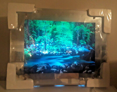 Vintage Lighted Motion Moving Waterfall Picture Lamp Light 12999