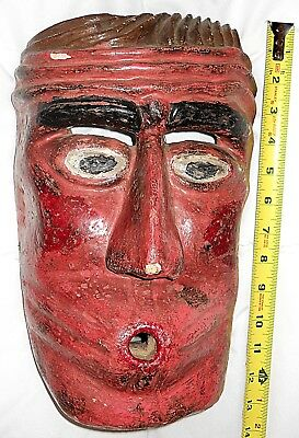 Primitive Fertility God Wooden Mask - Ca. 1930 - Carved - Museum Quality