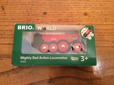 Brio World Mighty Red Action Locomotive 33592 - New in Box