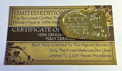 "New 1852 Adelaide Ingot ""Australia's First Gold Issue"" Finished in 999.0 Gold (a"