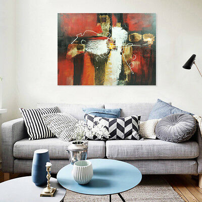 *Abstract* Hand Painted Canvas Oil Painting Modern Wall Art Home Decor Framed