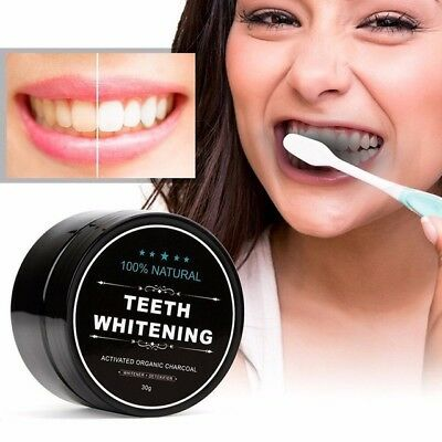 30g Teeth Whitening Powder Natural Organic Activated Charcoal Bamboo Toothpaste