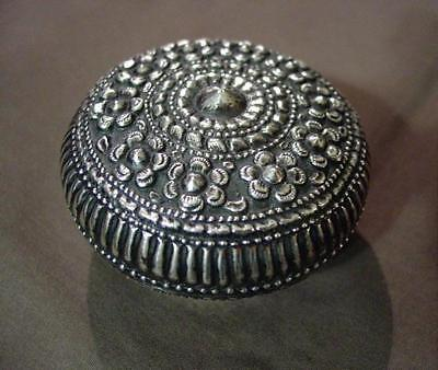Vintage Yogya/Djokja/Indian Silver Trinket Box