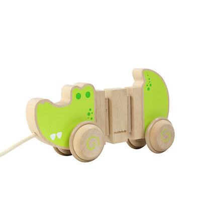 NEW Masterkidz Wooden Pull Along Alligator Toddler Kids Toys