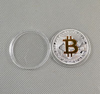 Fine Silver Gold Plated Commemorative Bitcoin Collectible Golden Iron Miner Coin