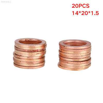 C492 New Washers Sump Plug Gasket Accessories Solid Copper 14*20*1.5mm General