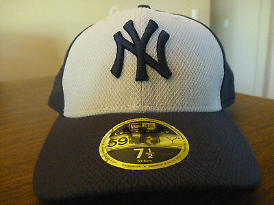 0d45d9bbd30 NEW YORK YANKEES NEW ERA 59FIFTY MLB LOW PROFILE NAVY   GRAY FITTED HAT Sz 7