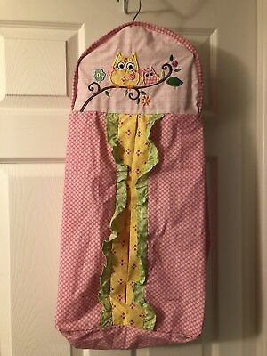 KIDSLINE HANGING DIAPER STACKER/HOLDER Owl Themed