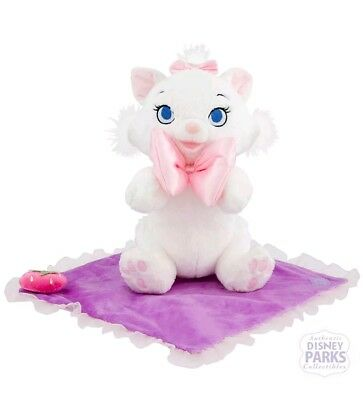 Disney Parks Babies Marie White Cat The Aristocrats Plush Doll Blanket Pink