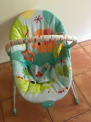 Bright Starts Monkey Business Bouncer Mirror Baby Infant Rocking Chair Seat Toys