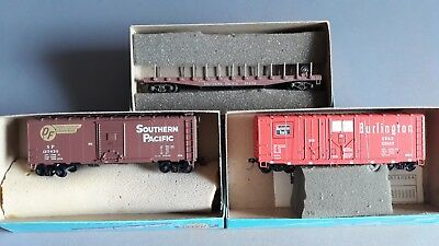 Athearn Vintage Us Freight Cars X 3 With Kadees V.good Cond Boxed Ho Scale(Ln 8)