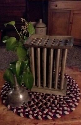 Primitive *BIG 24 TUBE* Rare Tin Antique 1800's Candle Mold Early Lighting AAFA