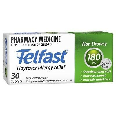 Telfast 180mg Fexofenadine 30 Tablets Cheapest Price