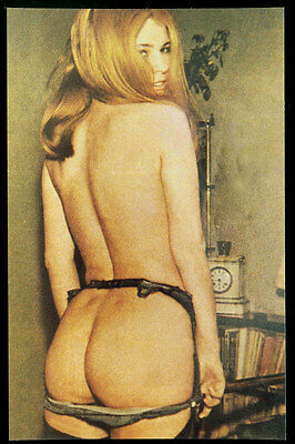 Risque Topless Old-fashioned Pinup Postcard 259