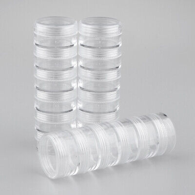18 Storage Stackable  Clear Containers For Beads Crafts Findings
