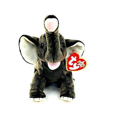 49f8f8c326d TY TRUMPET the ELEPHANT BEANIE BABY - Retired HTF Collectible PE Pellets  W Tags
