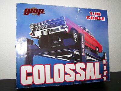 """1:18 Hebebühne GMP """"Colossal Lift - blue"""" OVP *really hard to find, not used*"""
