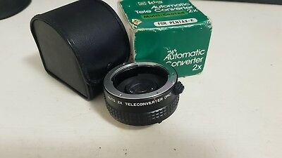 Pentax K Automatic Tele Converter 2X In Box With Leather Case