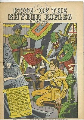 """Classics Illustrated #107 """"King of the Khyber Rifles"""" - no cover"""