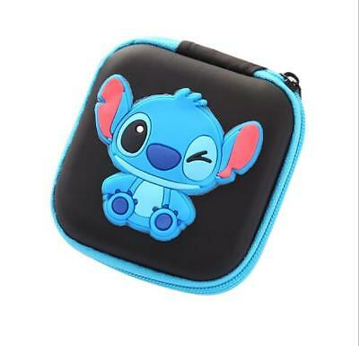 1Pcs Cartoon stitch Kids Rubber Coin Purse Wallet Headset Bag Gift EB28