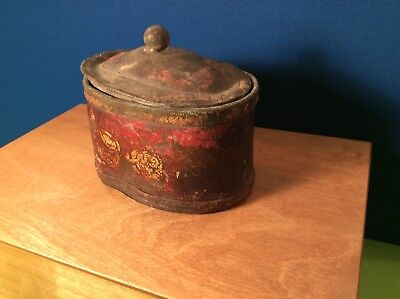 Rare Antique 18th Century Lead Tobacco Jar