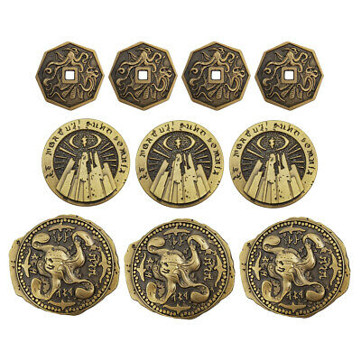 CALL OF CTHULHU: INNSMOUTH GOLD COIN 10-PACK metal RPG Chaosium Campaign Coins