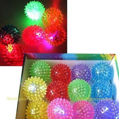 Flashing Light Up Spikey High Bouncing Balls New Sensory Hedgehog Ball Toy FL EB