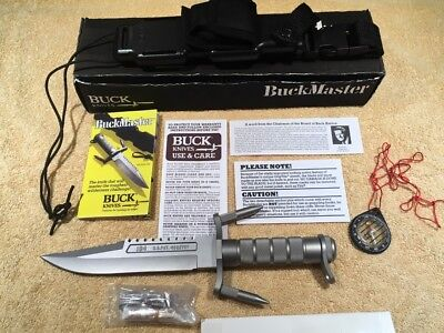 184 BuckMaster Buck Knife & Factory Sheath. Box and Papers *Mint*