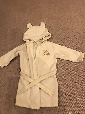 Baby Dressing Gown, Child, Disney, Winnie The Pooh, 9-12 Months, Free Delivery